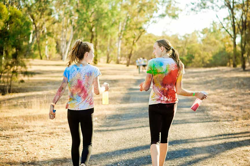 What is a color run?